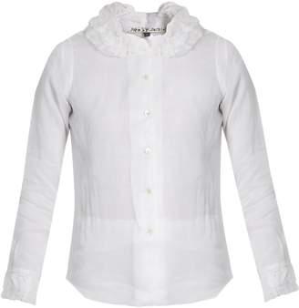 JUPE BY JACKIE Tadel ruffled-collar cotton-organdie shirt