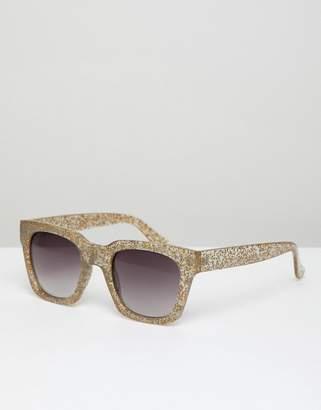 A. J. Morgan Aj Morgan AJ Morgan square sunglasses in gold glitter