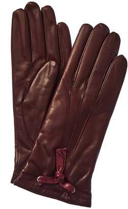 Portolano Tassel Cashmere-Lined Leather Gloves