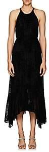 A.L.C. Women's Rosa Leopard-Pattern Velvet Halter Dress - Black