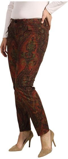 Lucky Brand Plus Size Ginger Skinny Jean in Vintage Rug Print