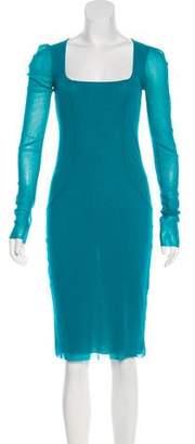 Jean Paul Gaultier Soleil Mesh Sheath Dress