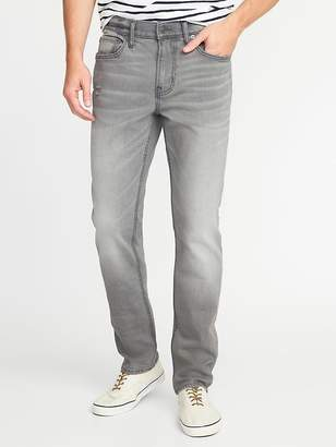 Old Navy Straight Built-In Flex Distressed Gray Jeans for Men