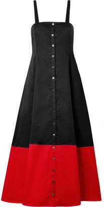 Mara Hoffman Marina Two-tone Organic Cotton Dress