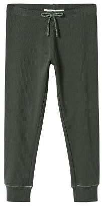MANGO Ribbed bow leggings