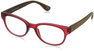 Foster Grant Women's Rosemary 1017556-175.COM Round Reading Glasses