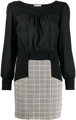 Patrizia Pepe panelled check dress