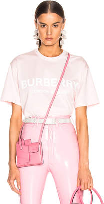 Burberry Oversized Logo Tee Shirt in Alabaster Pink | FWRD