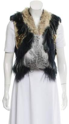 Gucci The Row Embellished Fur Vest Blue The Row Embellished Fur Vest