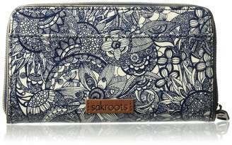 Sakroots Large Zip Around Wallet