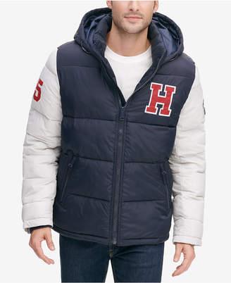 Tommy Hilfiger Men Varsity Hooded Puffer Jacket