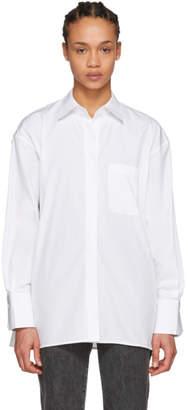 Helmut Lang White Oversized Placket Shirt