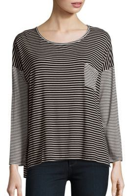Striped Dropped Shoulder Tee $54 thestylecure.com