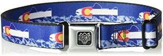 Buckle-Down Men's Seatbelt Belt Colorado Kids