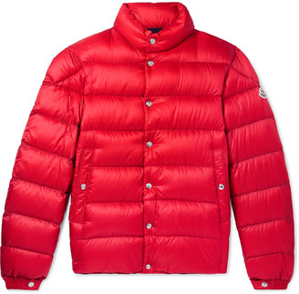Moncler Piriac Slim-Fit Quilted Shell Down Jacket - Men - Red