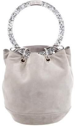 Edie Parker Suede Bucket Bag