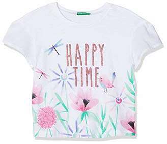 Benetton Girl's T-Shirt,(Manufacturer Size: 1y)