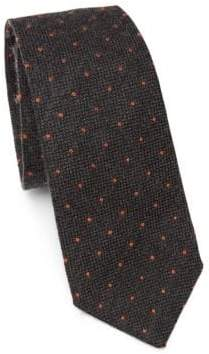 Brunello Cucinelli Polka Dot Wool& Silk Tie