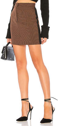 J.o.a. Side Stripe Houndstooth Mini Skirt