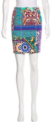 Blumarine Abstract Print Mini Skirt