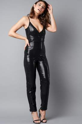 Na Kd Party Thin Strap Sequins Jumpsuit Black