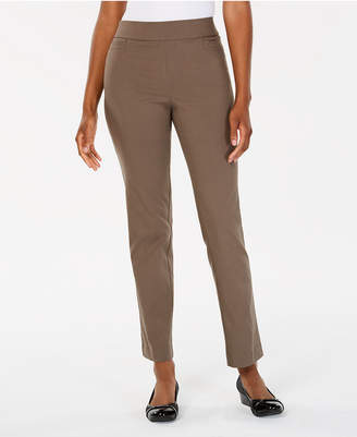 JM Collection Pull-On Slim-Leg Pants