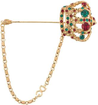 Dolce & Gabbana crown brooch pin