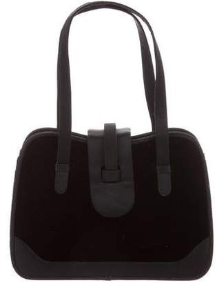 Judith Leiber Velvet Top Handle Bag