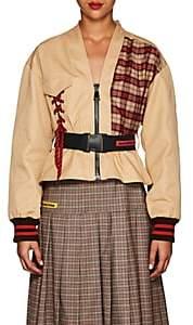 Marianna Senchina Women's Mixed-Media Cotton Utility Jacket - Nudeflesh