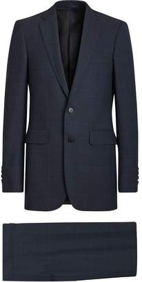 Burberry Modern Fit Check Wool Three-piece Suit