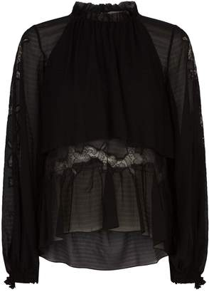 3.1 Phillip Lim Lace Insert Blouse