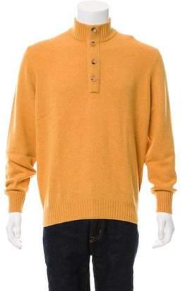 Brunello Cucinelli Cashmere Half-Button Sweater w/ Tags