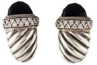 David Yurman Onyx & Diamond Cable Earclips