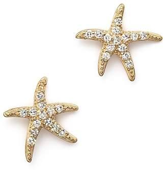 KC Designs Diamond Starfish Earrings in 14K Yellow Gold