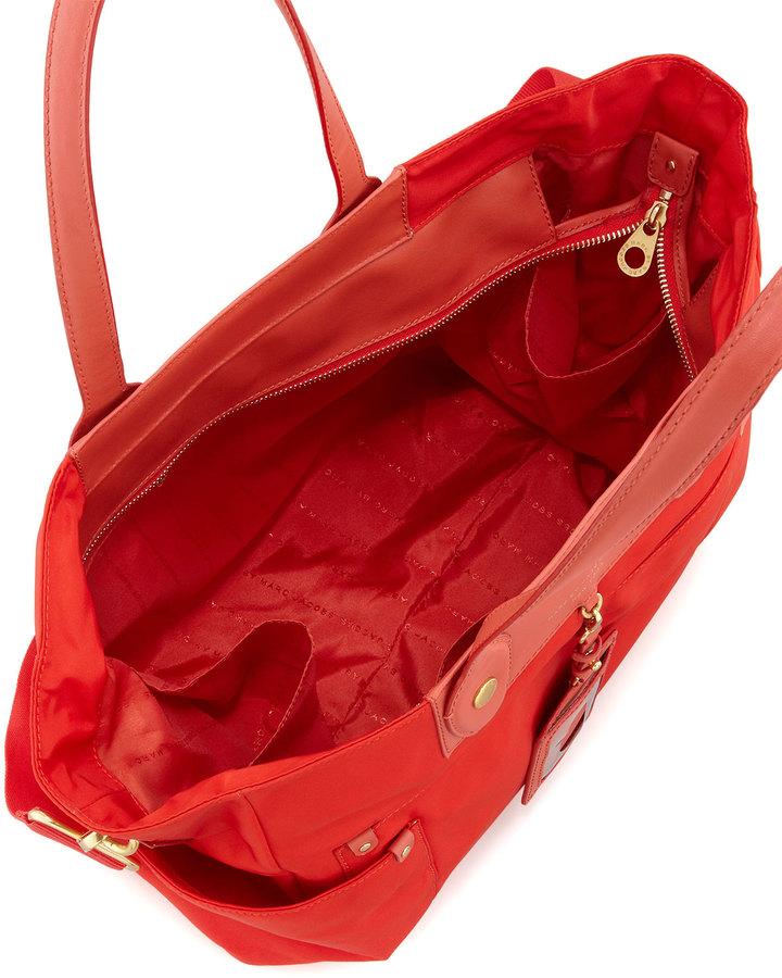 Marc by Marc Jacobs Pretty Nylon Eliz-A-Baby Diaper Bag, Blaze Red