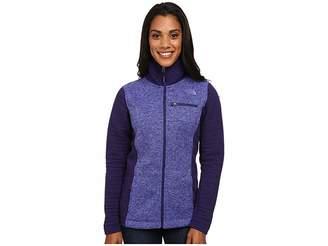 The North Face Indi Insulated Full Zip Jacket (Garnet Purple Heather/Garnet Purple