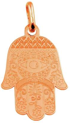 Marquis Jewelry Womens 925 Sterling silver Rose Gold Plated Small Hamsa 14mm Pendant 14