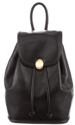 Mark Cross Leather Flap Backpack