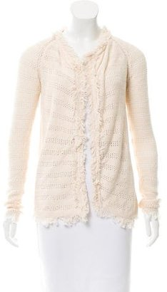 Inhabit Open Knit Fringe-Trimmed Cardigan w/ Tags $125 thestylecure.com