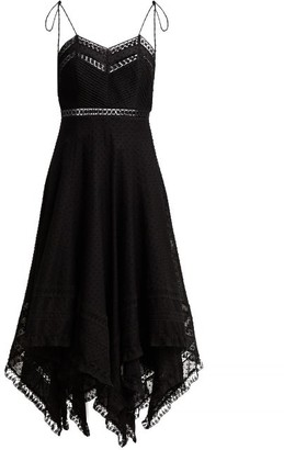 Zimmermann Juno Cotton And Lace Scarf Dress - Womens - Black