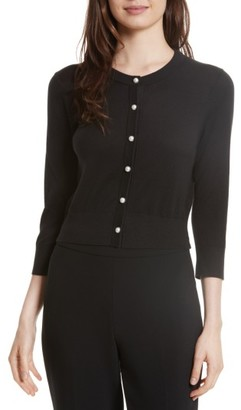 Women's Kate Spade New York Crop Silk Blend Cardigan $198 thestylecure.com
