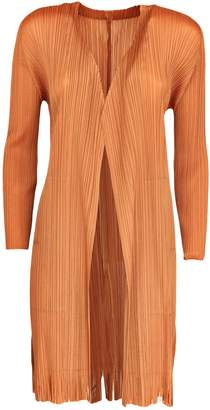 Issey Miyake Pleats Please By Pleated Long Cardigan