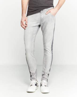 Patrizia Pepe Grey Side Stripe Skinny Jeans