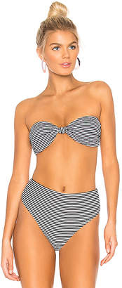 Bond Eye Knot Me Rib Bandeau Bikini Top