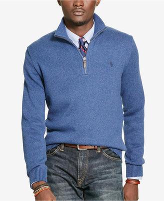Polo Ralph Lauren Men's Half-Zip Sweater $98.50 thestylecure.com