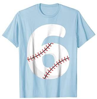 Number BASEBALL Team Shirt - 6 Pitcher Batter Tee