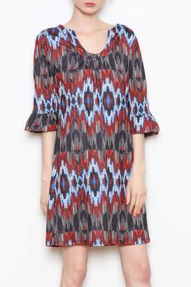 Aryeh Ruffle Sleeve Dress