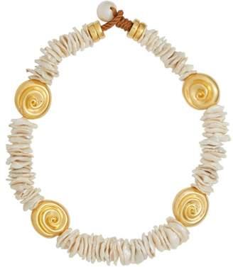Lizzie Fortunato Aphrodite Baroque Pearl Choker - Womens - Pearl