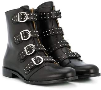Gallucci Kids TEEN buckle-detail biker boots