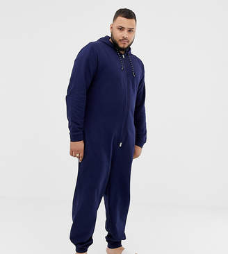 Asos DESIGN PLUS onesie in navy